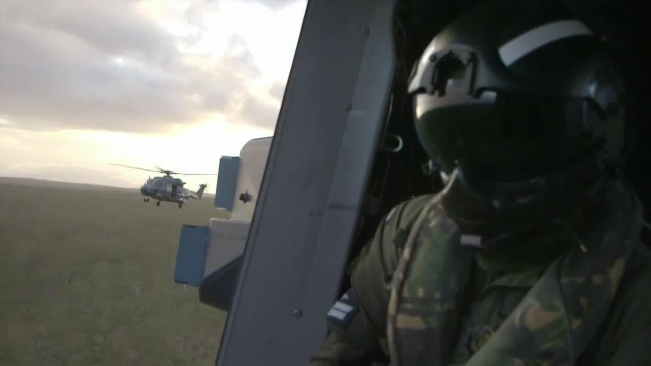 militarygfys, warplanegfys, NZDF NH-90 on its first OE. Invading Aussie as part of Op Talisman Sabre. (reddit) GIFs
