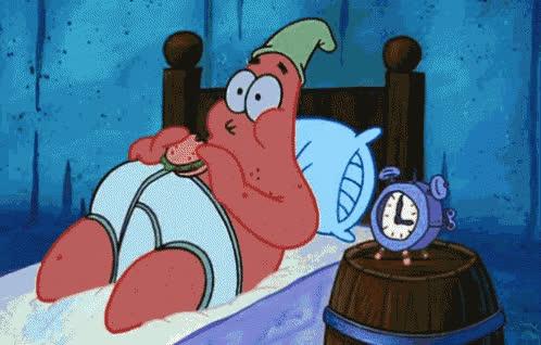 bed, can't, hungry, late, midnight, night, patrick, sleep, sleepy, snack, spongebob, I can't sleep GIFs