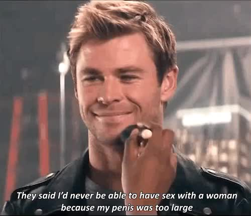 Watch and share Chris Hemsworth GIFs and Chemsdick GIFs on Gfycat