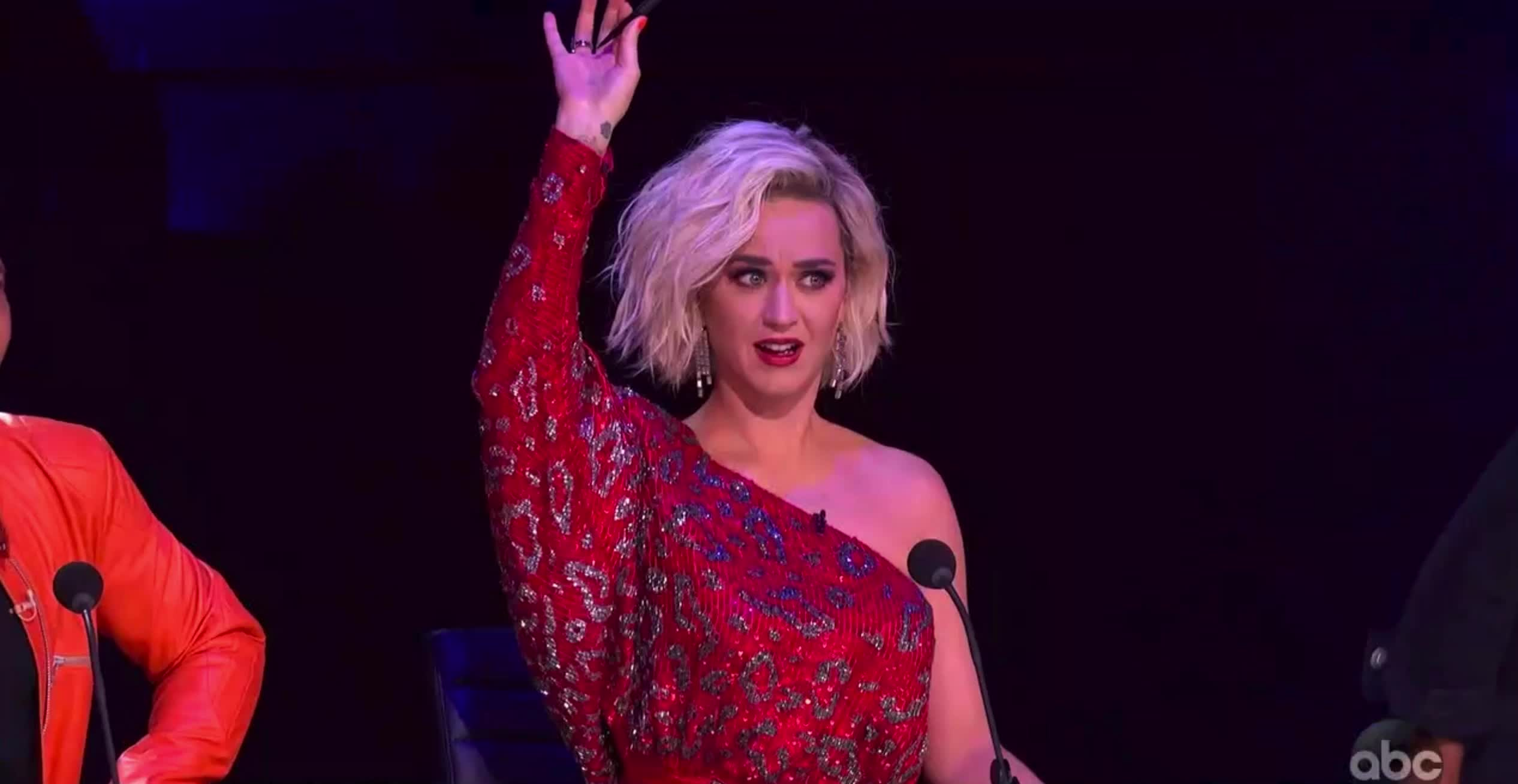 american idol, american idol season 17, americanidol, katy perry, lionel richie, luke bryan, ryan seacrest, season 17, shocked, whoa, woah, wow, American Idol Katy In Awe Of Uche's Moves GIFs
