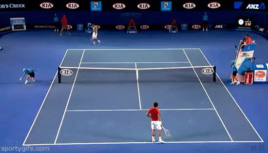 Watch and share Funniest Tennis Fail Gifs GIFs on Gfycat