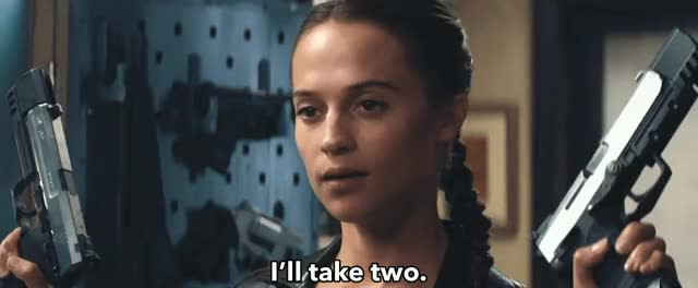 Watch and share Alicia Vikander GIFs and Tomb Raider GIFs by Reactions on Gfycat