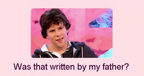 Watch the background was not supposed to look like this :( i quit photoshop. gif GIF on Gfycat. Discover more jesse eisenberg GIFs on Gfycat