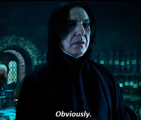 Watch and share Snape GIFs on Gfycat