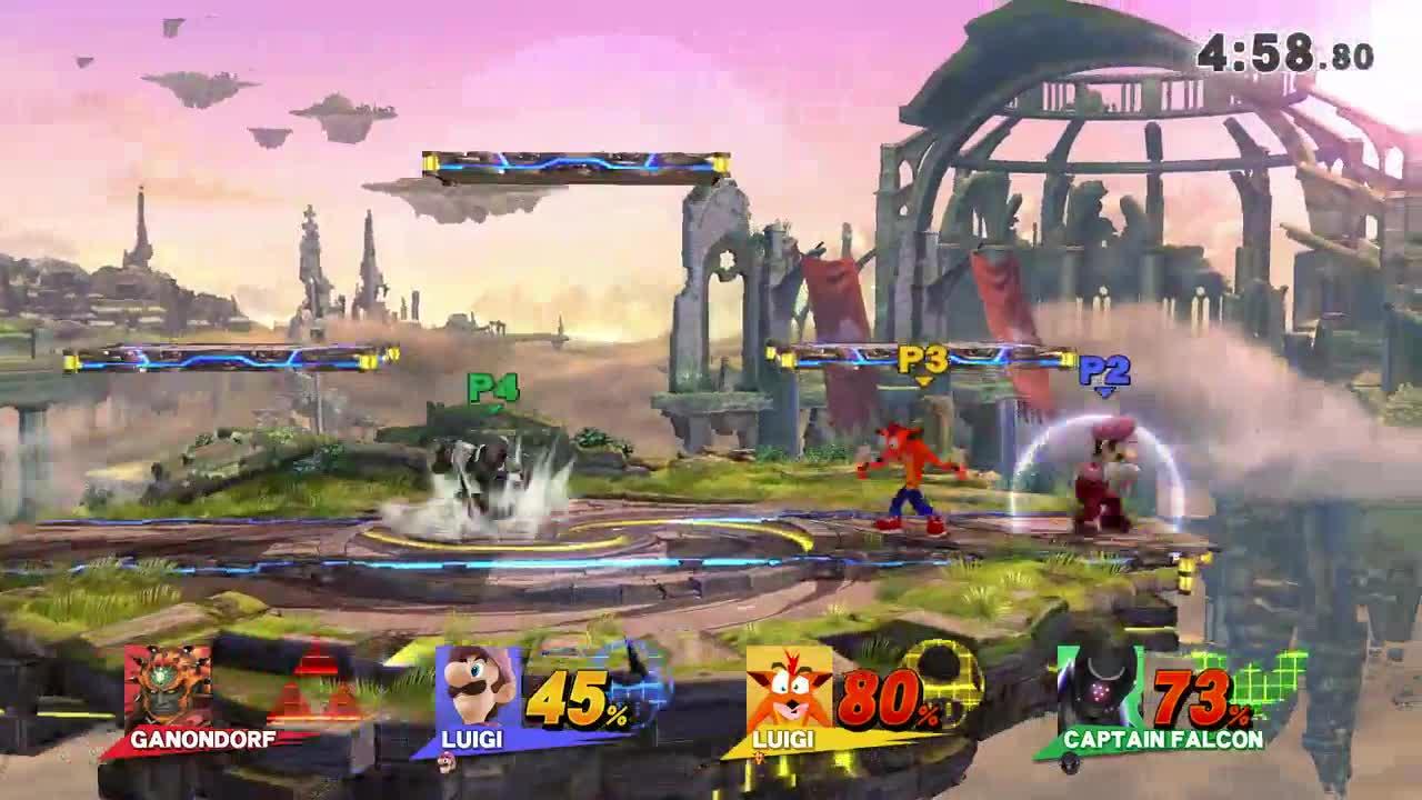 Artful Phoenix, Bassnaut, Highlights & Replays, Sm4sh, Smash 4 Mods, Super Smash Bros., Super Smash Bros. For Wii U, smashgifs, ssmb, Banished GIFs