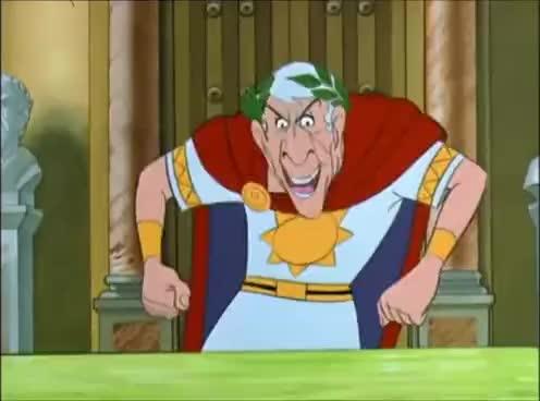 evil, evil laugh, laugh, laughing, lol, muahaha, muahahaha, Asterix   Julius Cesar  - Evil Laugh GIFs