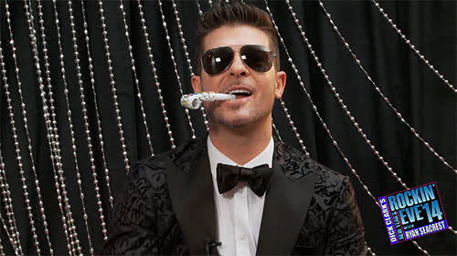 robin thicke, new year's eve GIFs