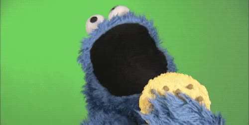 Watch Cookie Monster GIF by Yuyu (@yuyuaca) on Gfycat. Discover more cookie, cookie monster, om nom nom, sesame street GIFs on Gfycat