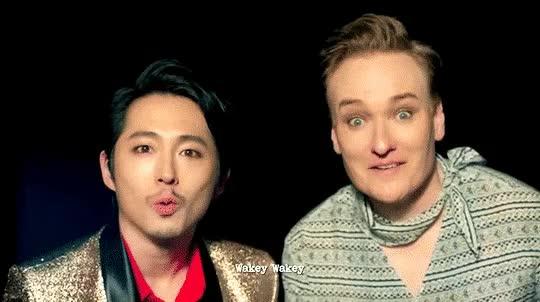 Watch and share Conan O'brien Steven Yeun Gif GIFs on Gfycat
