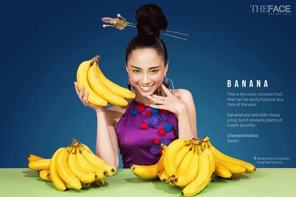 Dàn sao Việt phấn khích với bộ ảnh trái cây lung linh của Top 9 The Face Online