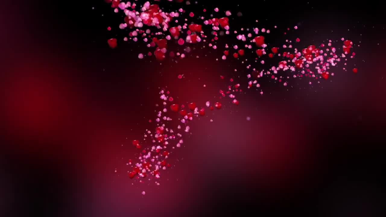 Romantic Flying Red Rose Flower Petals Love Heart Wedding Animated Background Hd Gfycat