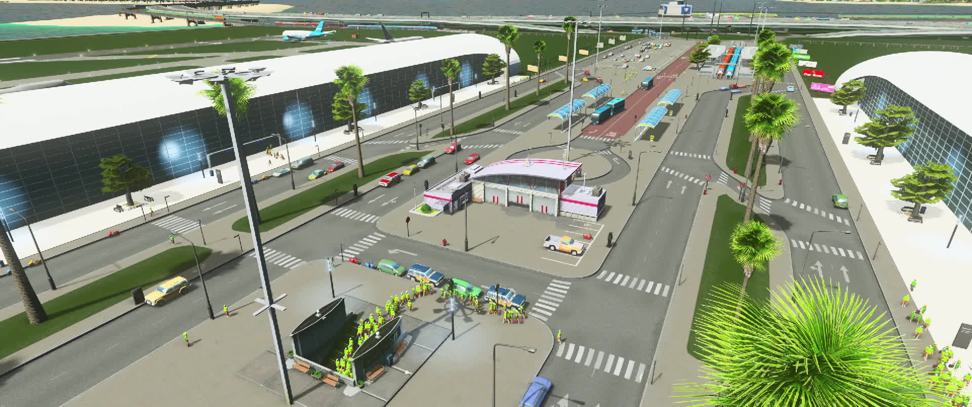 citiesskylines, Howie Islands - Airport Timelapse 2 GIFs