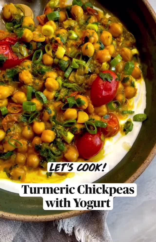 Watch and share Turmeric Chickpeas With Yogurt GIFs by triedandtruerecipes on Gfycat