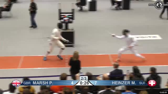 Watch MARSH P 5 GIF by Scott Dubinsky (@fencingdatabase) on Gfycat. Discover more gender: male, leftname: MARSH P, leftscore: 5, rightname: HEINZER M, rightscore: 8, time: 00011592, touch: double, tournament: heidenheim2019, weapon: epee GIFs on Gfycat