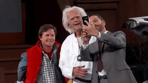Watch and share Michael J Fox GIFs and Jimmy Kimmel GIFs on Gfycat