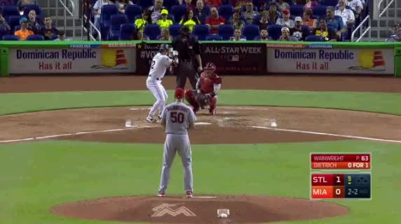Watch and share Miami Marlins GIFs and Baseball GIFs by jsulliv6 on Gfycat
