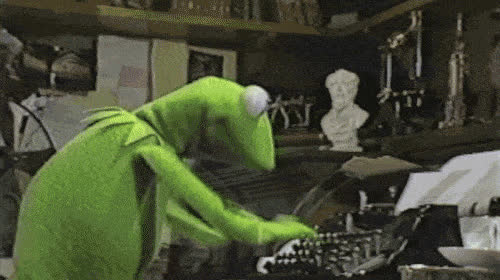 kermit typing GIFs