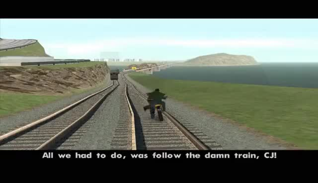 Watch and share All You Had To Do Was Take Control Of The Damn Train CJ GIFs on Gfycat