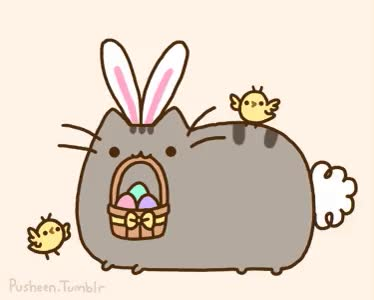 Watch and share Pusheen GIFs and Easter GIFs on Gfycat