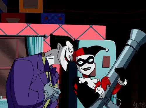 Watch and share Harley Quinn GIFs and Joker GIFs on Gfycat