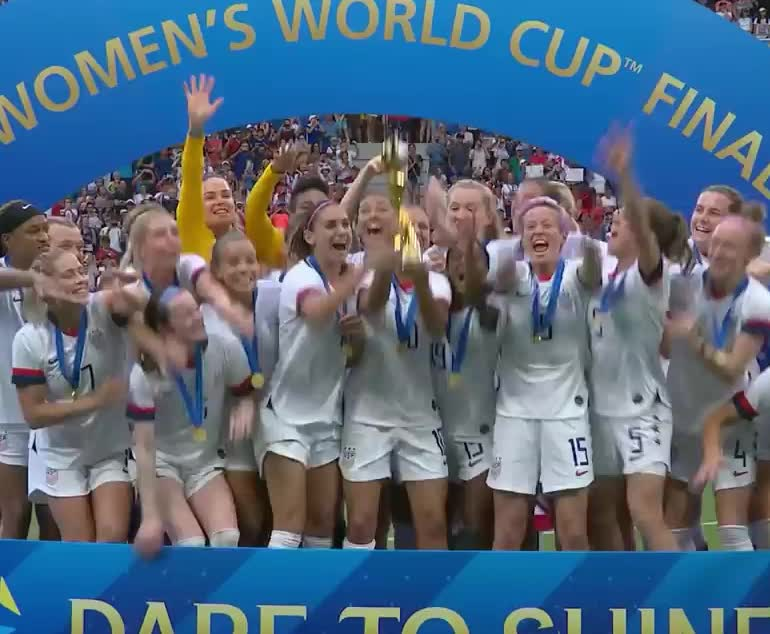 awesome, celebrate, did, female, fifa, finals, football, hurray, it, made, soccer, states, team, united, usa, win, winner, women, yeah, yes, FIFA Women's World Cup 2019 winners GIFs