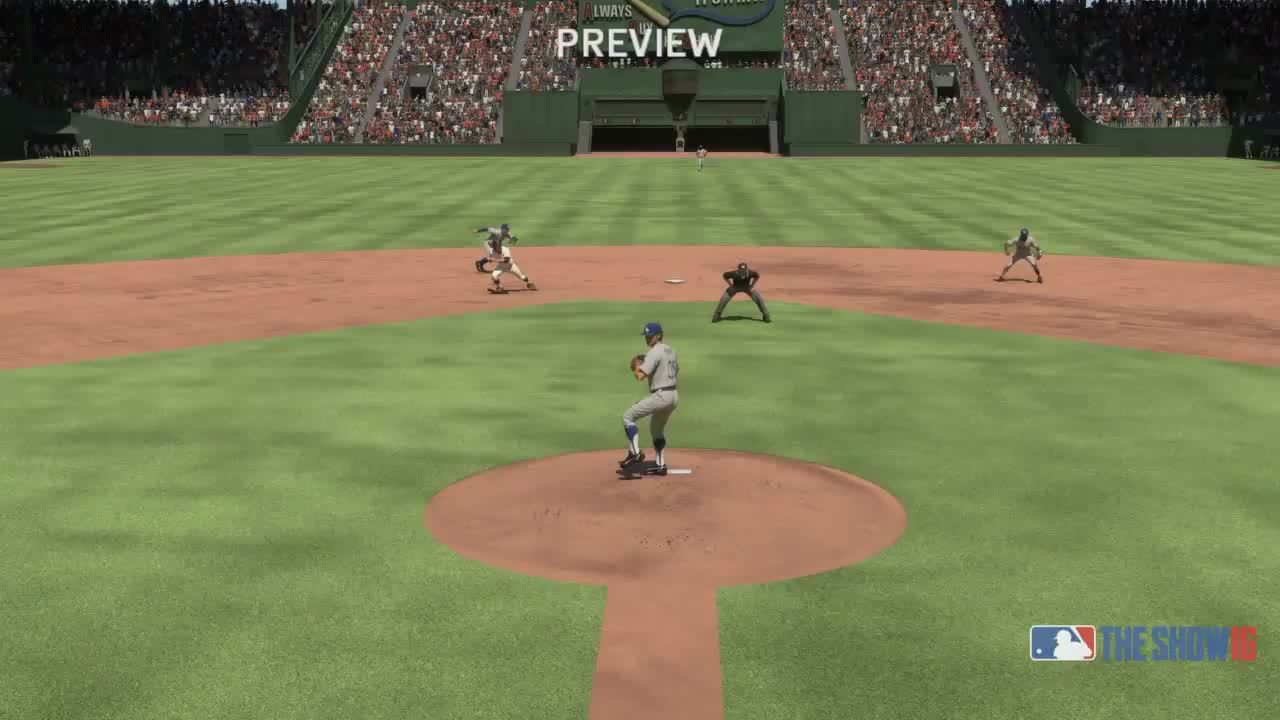 GamePhysics, mlbtheshow, youtube editor, MLB The Show 16 Al Kaline Robs HR, turns double play! GIFs