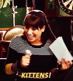 Watch and share Lea Michele GIFs and Kittens GIFs on Gfycat