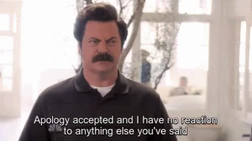 Watch Apology Im GIF on Gfycat. Discover more nick offerman GIFs on Gfycat