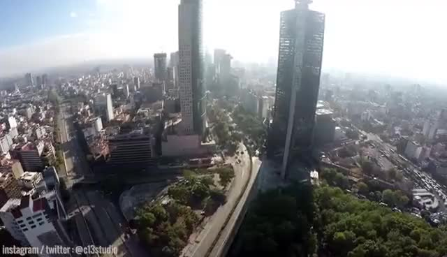 Watch and share Volando Sobre La Ciudad De México En Drone | 03 - Paseo De La Reforma | GoPro Hero 4, FPV | GIFs on Gfycat