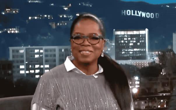 aw, aww, awww, blush, blushing, cute, cutie, jimmy, kimmel, kind, oprah, president, red, shy, smile, sweet, turn, winfrey, Oprah - awww GIFs