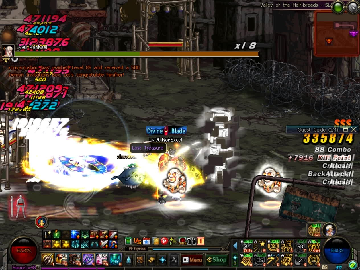 60fps, dfo, mmorpg, DFO Hell Mode Vol.73 GIFs