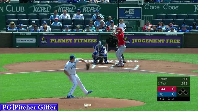 Watch and share Los Angeles Angels GIFs and Brad Keller GIFs by Pitcher Giffer on Gfycat