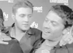 Watch and share Misha Collins GIFs and Jensenmisha GIFs on Gfycat