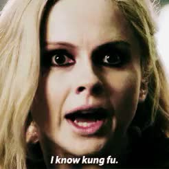 Watch and share Rose Mciver GIFs and Kung Fu GIFs on Gfycat