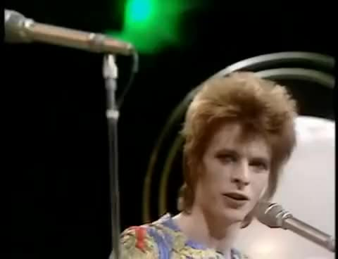 Watch David Bowie Starman (1972) official video GIF on Gfycat. Discover more related GIFs on Gfycat