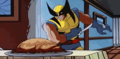 cook, eat, eating, feed me, food, hangry, hero, hungry, lunch, meal, oven, super, superhero, thanksgiving, turkey, yum, Turkey is ready GIFs