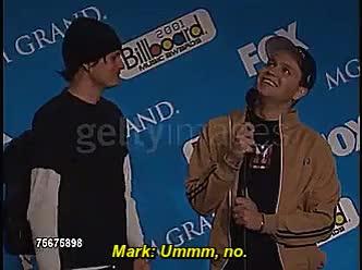 Watch Holly GIF on Gfycat. Discover more Blink 182, ilovethem, interview, mark hoppus, markissocute, my gifs, tom delonge, tomark, tomissohot GIFs on Gfycat