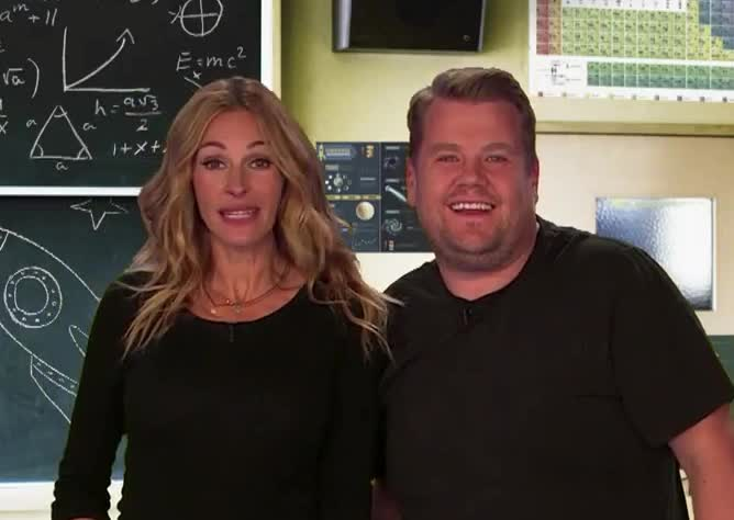 James Corden, corden, course, deal, got, it, james, julia, of, ok, okey, roberts, sure, wink, yay, yeah, Julia Roberts + James Corden winking GIFs
