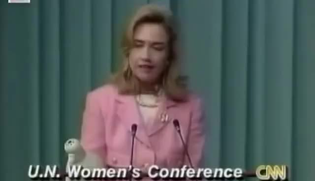 Watch and share Hillary Clinton Womens Rights Are Human Rights GIFs on Gfycat