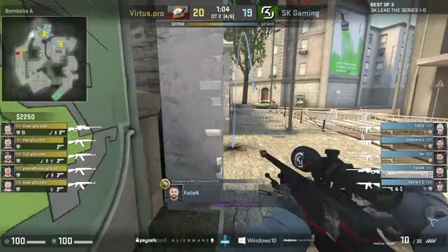 CS:GO - SK vs. Virtus.Pro [Overpass] Map 2 - ESL One New York 2016 - Semifinal