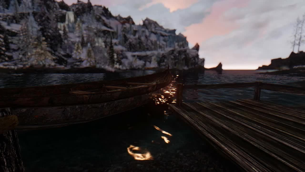 skyrimmods, skyrimporn, Water Reflections GIFs