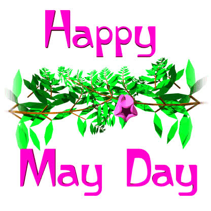 international workers day, labour day, may day, Happy May Day Flower Blossom Animated Picture GIFs