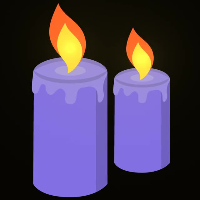 Watch and share Purple Candles GIFs and Purple Candle GIFs by Animated Stickers on Gfycat