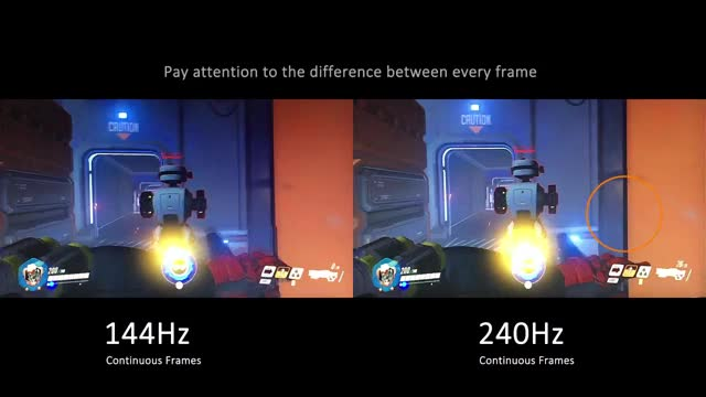XG2530 240Hz Esports Monitor In-game Comparison GIF | Find, Make