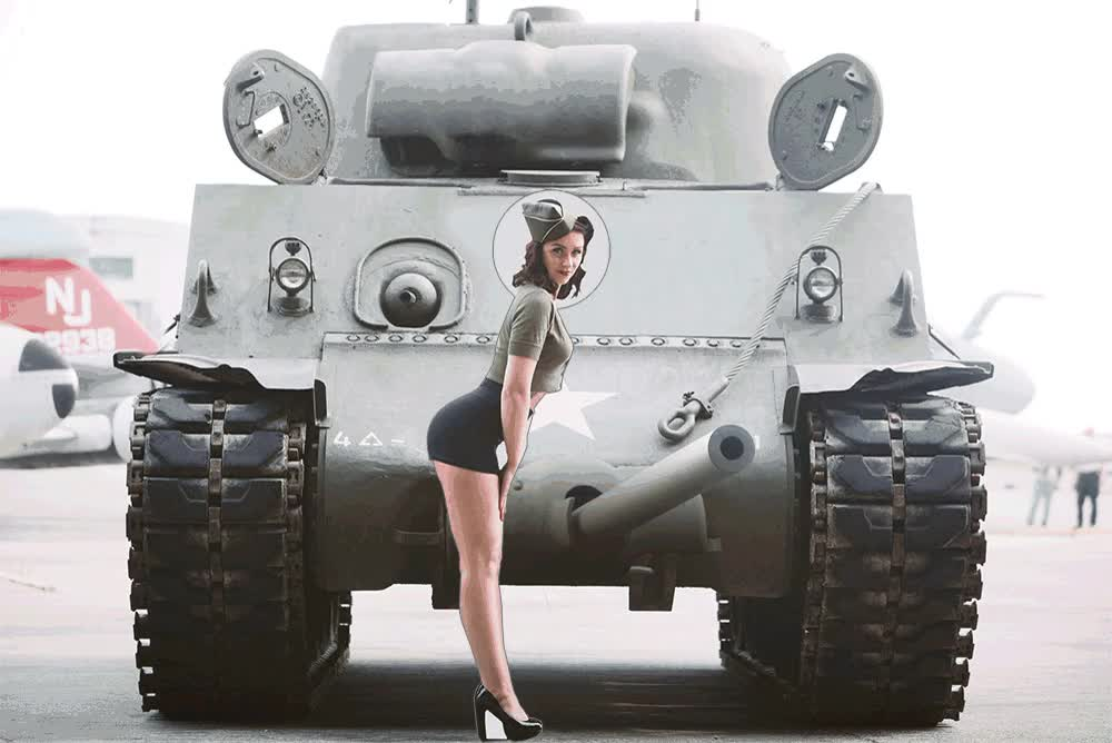 Tank and sexy girl : photoshopbattles GIFs