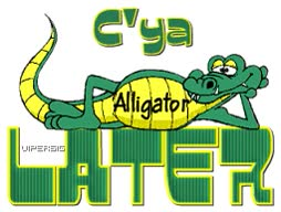 Watch and share C'ya Later Alligator Images animated stickers on Gfycat