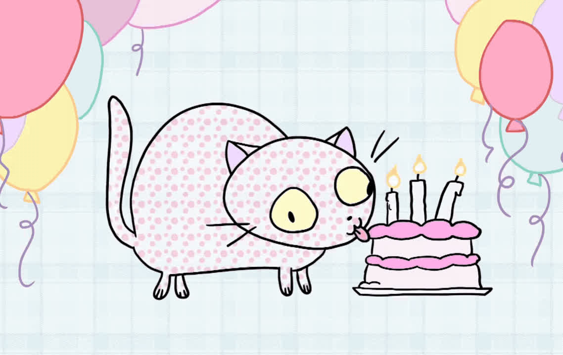 a, ballon, bday, best, birthday, caat, cake, candles, celebrate, happy, happy birthday, hip, hooray, lick, make, party, surprise, tada, wish, wishes, Hip hip hooray GIFs