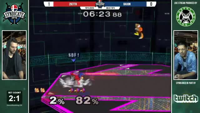 Syndicate - Zgetto (Fox) Vs. Baxon (Falco) - Top 8 Losers - Melee