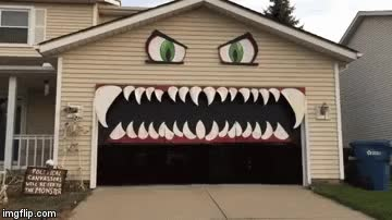 Watch and share Monster Garage Door GIFs on Gfycat
