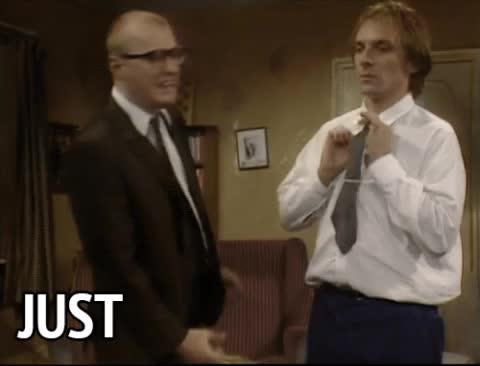 adrian edmondson, bottom, shut up, shut your mouth, stop, stop talking, Bottom - Just stop talking GIFs